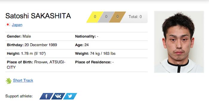 40 satoshi sakashita - funniest names 2014 winter olympics sochi