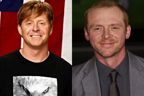 8 nate holland and simon pegg - sochi 2014 winter olympics athlete celebrity doppelgangers look-alikes