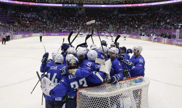 8 slovenia beats slovakia 2014 olympics - biggest olympic hockey upsets