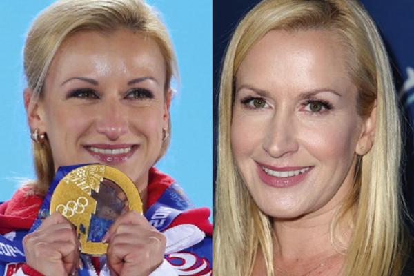 9 Tatiana Volosozhar and Angela Kinsey - sochi 2014 winter olympics athlete celebrity doppelgangers look-alikes