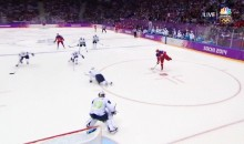 2014 Sochi Olympics: Alex Ovechkin Scores 77 Seconds into Russia's Opener vs. Slovenia (GIF)