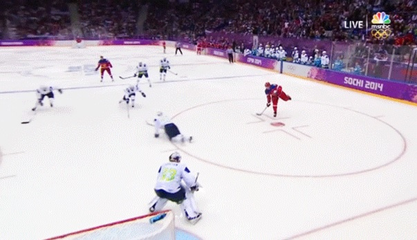 Alex Ovechkin Russia's opening goal