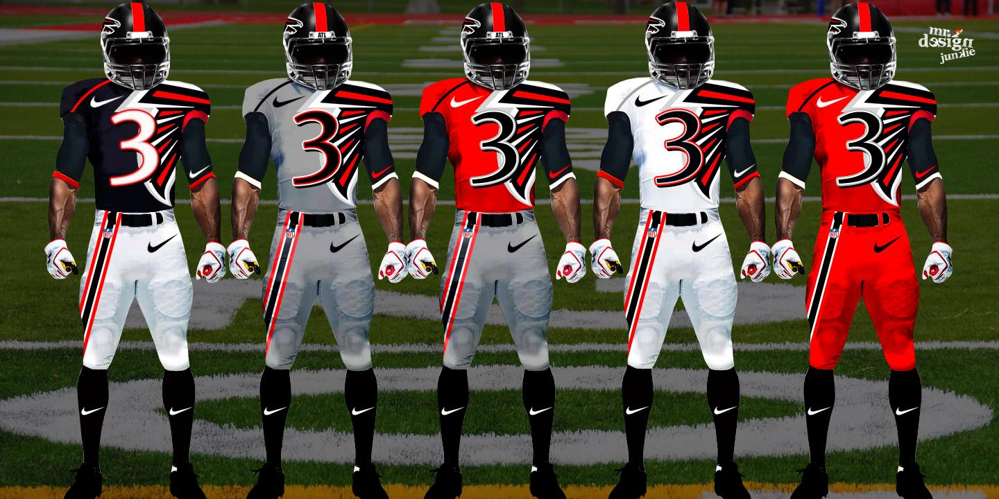 Nfl And College Football Jerseys Redesigned By Mr Design