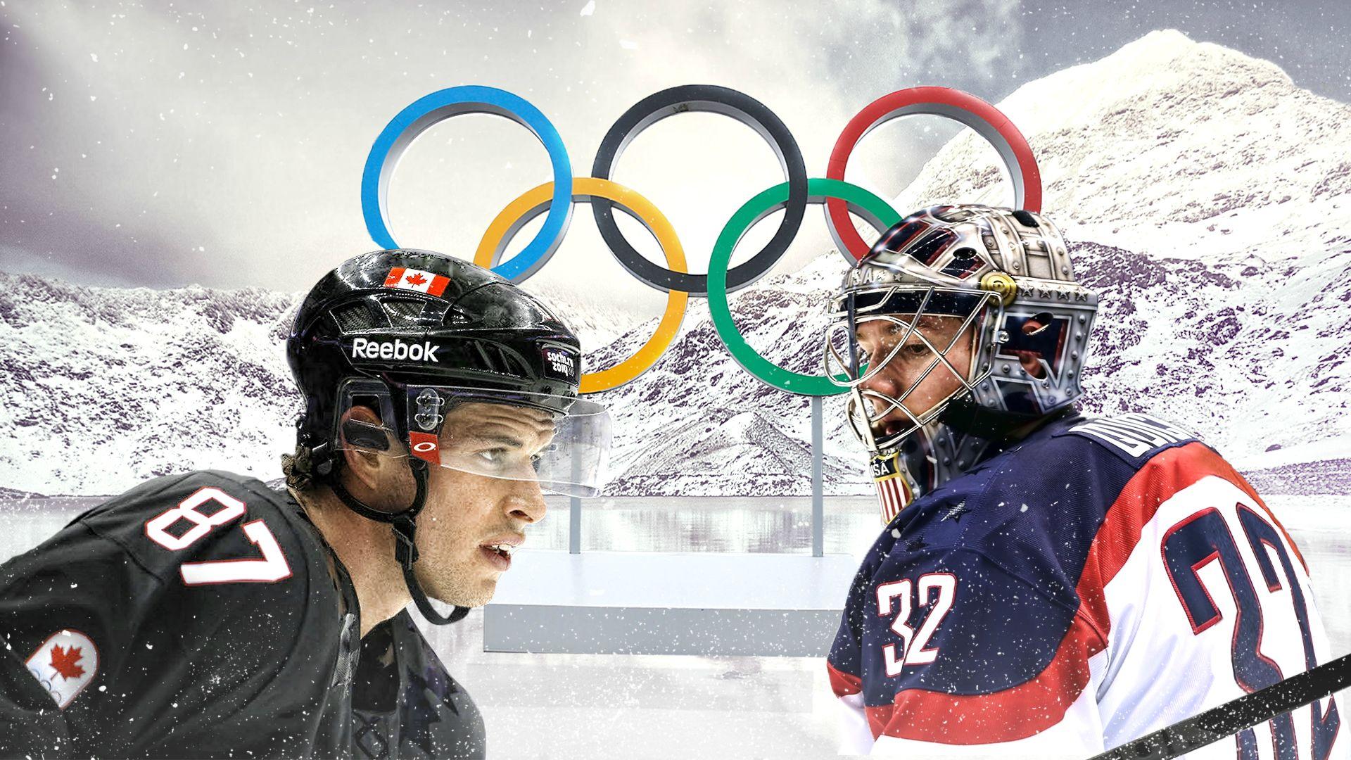 2014 sochi olympics canada vs usa men s hockey hype posters