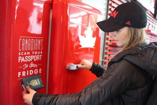 Canadian olympics beer fridge