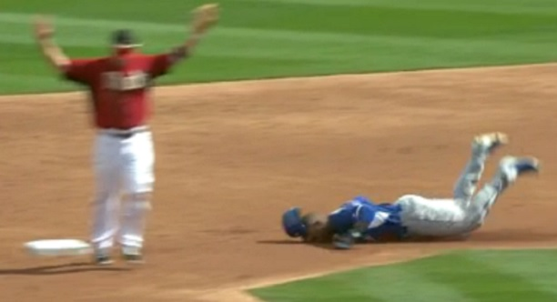 Carl Crawford face first slide