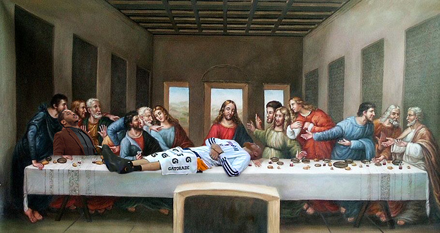 Chris Kaman at the Last Supper