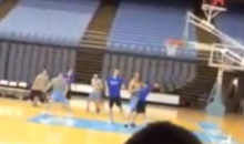 Fight Breaks Out During Duke-North Carolina Managers Game (Video)