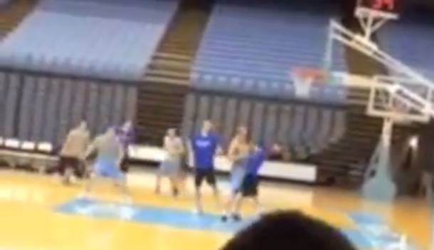 Duke UNC Managers Game fight