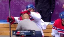 2014 Sochi Olympics: Jaromir Jagr Gets a Leg Rub (GIF)