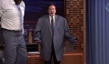 Shaquille O'Neal's Jacket is Way Too Big For Jimmy Fallon (Video)