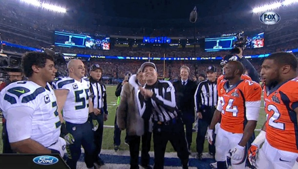 Joe Namath coin toss
