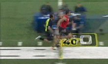 Johnny Manziel vs. Colin Kaepernick in the 40-Yard Dash at the NFL Combine (GIF)