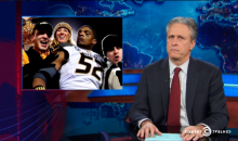 Jon Stewart Comments on Michael Sam's Draft Prospects After Coming Out as Gay (Video)
