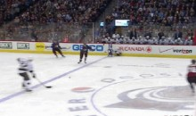 Kings' Jordan Nolan Misses Hit, Falls Head First into the Boards (GIF)
