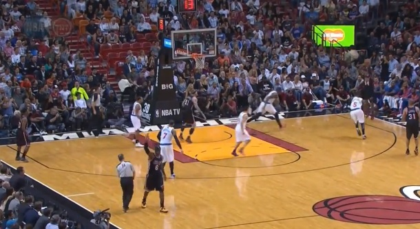 LeBron James celebrate Ray Allen three-pointer