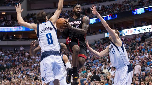 LeBron James vs. Mavs.