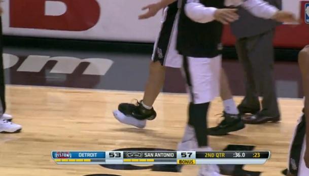 Manu Ginobili shoe explode