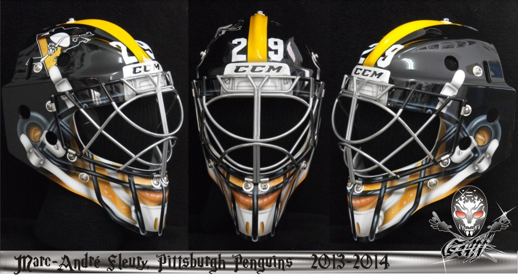 Marc-Andre Fleury Stadium Series Steelers Mask
