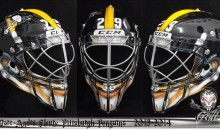 "Marc-Andre Fleury's Steelers-Themed Mask for the ""NHL Stadium Series"" is Awesome"