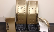 Marc-Andre Fleury Will Wear These Golden Pads During Saturday's NHL Stadium Series Game in Chicago (Photo)