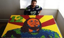 Death Cab for Cutie's Nick Harmer Creates Marshawn Lynch Portrait With Skittles (Photos)
