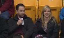Minnesota Golden Gophers Fan Comes Prepared for the Kiss Cam (Video)