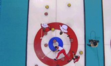 2014 Sochi Olympics: Russian Curler Wipes Out (GIF)