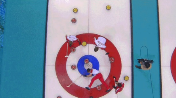 Russian curler wipe out