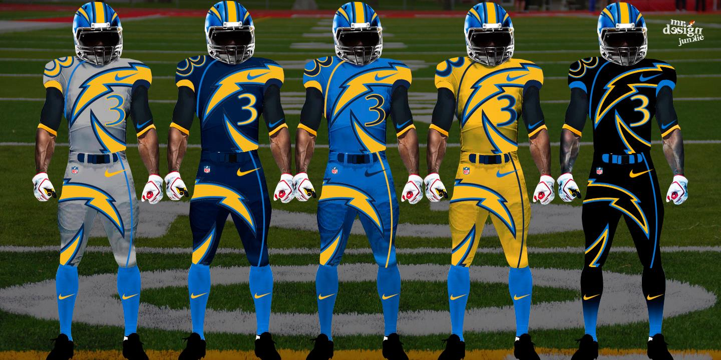 22f345442 NFL and College Football Jerseys Redesigned by Mr. Design Junkie ...