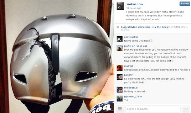 Sarka Pancochova instagram helmet