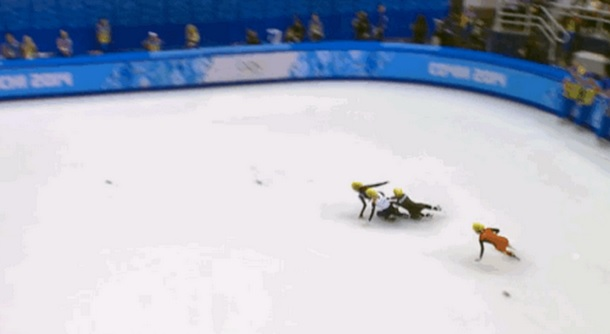Short Track Speed Skating fall