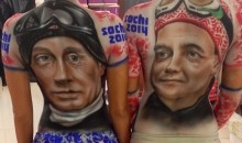 2014 Sochi Olympics: Vladimir Putin Body Art is Quite Sexy (Pic + Video)