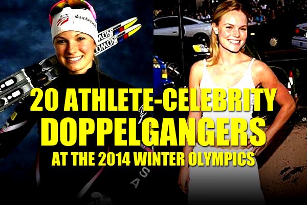 athete celebrity look-alikes doppelgangers sochi 2014 winter olympics