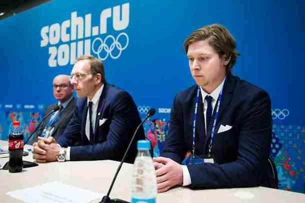 backstrom press conference olympics drug test