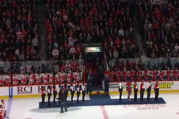 canadiens tribute to gold medal hockey players