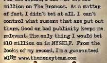 Floyd Mayweather Jr. Now Claims He Never Bet $10.4 Million on the Broncos to Win Super Bowl XLVIII (Pic)