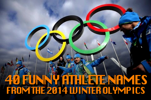 funny athlete names sochi 2014 winter olympics