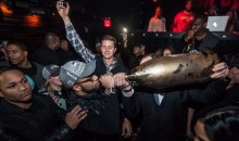 Golden Tate Celebrates Super Bowl Victory With Giant $100,000 Bottle of Champagne (Photos)