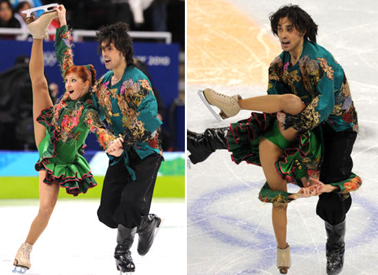 jana khokhlova and sergei novitski - crazy figure skating costumes
