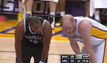 Jason Collins Enters Game vs. Lakers, Officially Becoming the NBA's First Openly Gay Player (Video)