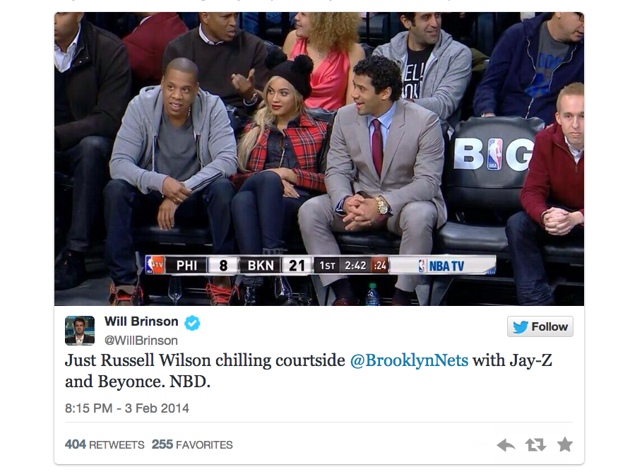 jay-z, beyonce, and russell wilson
