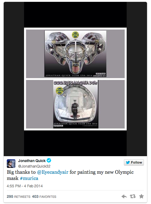 jonathan quick - 2014 winter olympic athletes to follow