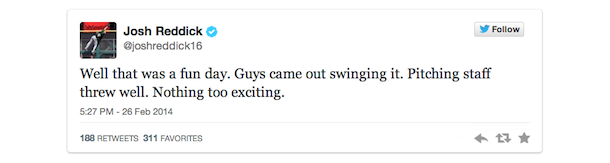 josh reddick tweet