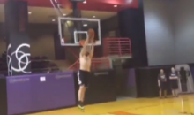 Here's Kevin Love Imitating LeBron's Off-the-Wall Practice Dunk (Video)
