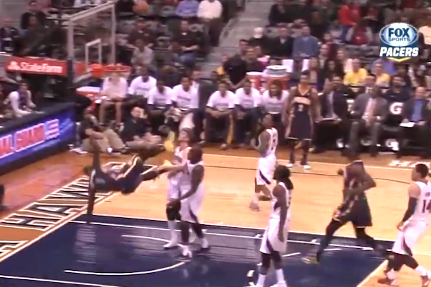 lance stephenson scary fall