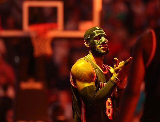 lebron scary face mask