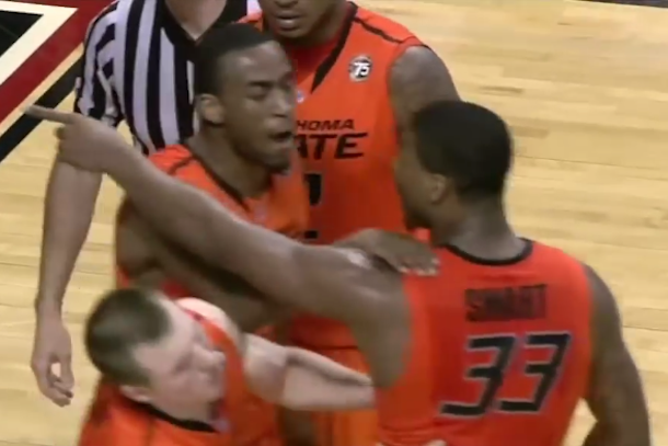 marcus smart shoves fan