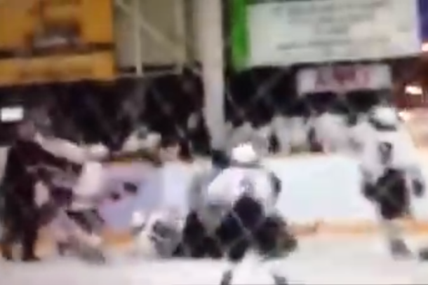 referee suplexes 12-year-old hockey player