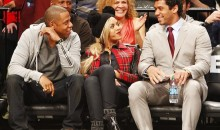 Russell Wilson Was Sitting Courtside With Jay-Z and Beyonce Yesterday (Pics)